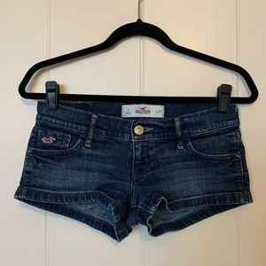 Hollister dark denim shorts
